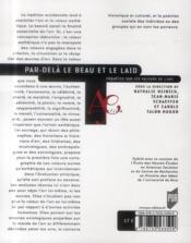 Par-delà le beau et le laid ; enquêtes sur les valeurs de l'art - 4ème de couverture - Format classique