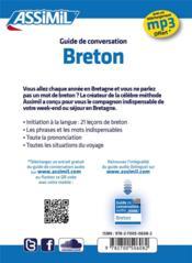 GUIDES DE CONVERSATION ; Breton - 4ème de couverture - Format classique