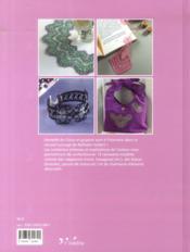 Rêve de dentelles ; cluny et guipure - 4ème de couverture - Format classique