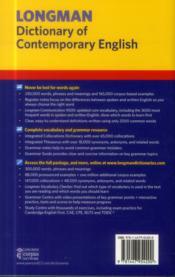 Dictionary of contemporary english 6e - 4ème de couverture - Format classique