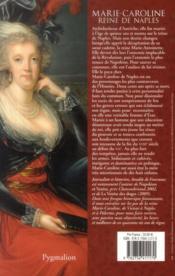 Marie-Caroline, reine de Naples - 4ème de couverture - Format classique