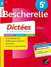 Bescherelle ; dictées ; 5ème - Couverture - Format classique