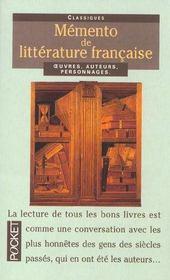 Memento D'Histoire De Litterature Francaise - Intérieur - Format classique