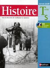 Le quintrec ; histoire ; terminale S ; cd-rom (édition 2008) - Intérieur - Format classique