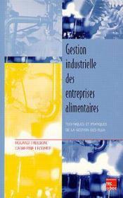 Gestion industrielle des industries alimentaires - Couverture - Format classique