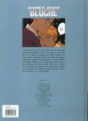 Jérôme K. Jérôme Bloche t.14 ; un fauve en cage - 4ème de couverture - Format classique