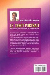 Le Tarot Portrait ; Miroir De La Personnalite Et Du Chemin De Vie - 4ème de couverture - Format classique