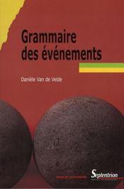 Grammaire des événements - Intérieur - Format classique