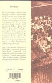 Oradour - 4ème de couverture - Format classique