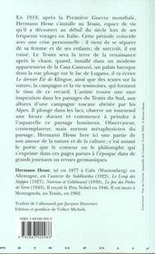 Tessin - 4ème de couverture - Format classique