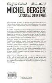 Michel Berger, l'étoile au coeur brisé - 4ème de couverture - Format classique