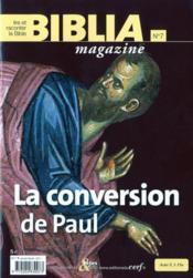 Revue Biblia ; La Conversion De Paul - Couverture - Format classique
