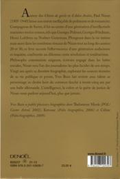 Paul Nizan ; la révolution éphémère - 4ème de couverture - Format classique