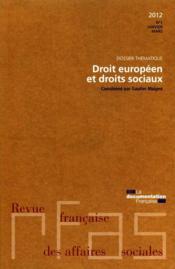 Revue Francaise Des Affaire Sociales ; Droit Européen Et Droit Sociaux T.1 - Couverture - Format classique