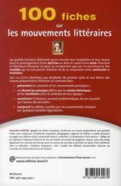 100 fiches mouvements litteraires - 4ème de couverture - Format classique