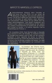 Mayotte-Marseille express - 4ème de couverture - Format classique