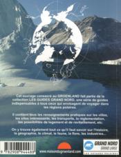 Guide Groenland Kalaallit Nunaat - 4ème de couverture - Format classique
