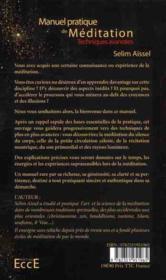 Manuel pratique de méditation ; techniques avancées - 4ème de couverture - Format classique