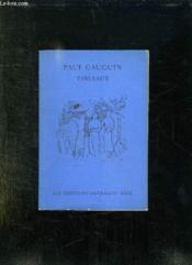 Paul Gauguin. Tableaux. - Couverture - Format classique