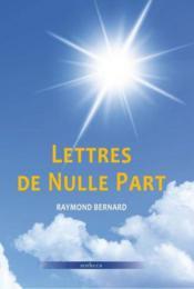 Lettres de nulle part - Couverture - Format classique