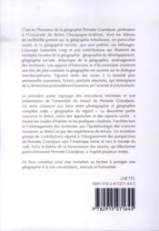 De Recife à Reims : récits géographiques ; mélanges offerts à Pernette Gandjean - 4ème de couverture - Format classique