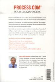 Process com pour les managers ; manager sans stress et booster ses équipes (3e édition) - 4ème de couverture - Format classique