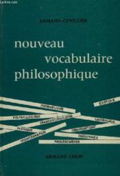 Nouveau Vocabulaire Philosophique - Couverture - Format classique