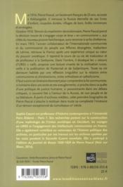 Pierre Pascal ; la Russie entre christianisme et communisme - 4ème de couverture - Format classique