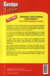 Optimisez votre système d'information ! vers la PME numérique en réseau - 4ème de couverture - Format classique