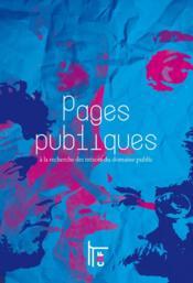 Pages publiques ; à la recherche des trésors du domaine public - Couverture - Format classique