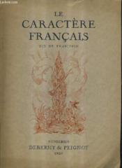 Le Caractere Francais Dit De Tradition. - Couverture - Format classique