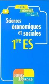 Economie 1e Es - Intérieur - Format classique