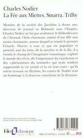 La fée aux miettes ; Smarra ; Trilby - 4ème de couverture - Format classique