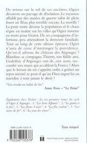 Cycle d'ogier d'argouges - tome 7 l'epervier de feu - 4ème de couverture - Format classique