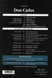 L'avant-scène opéra N.244 ; Don Carlos - 4ème de couverture - Format classique