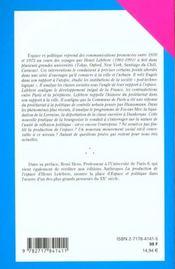 Espace et politique ; le droit à la ville t.2 (2e édition) - 4ème de couverture - Format classique