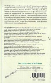 Le Geographe Et Les Frontieres - 4ème de couverture - Format classique