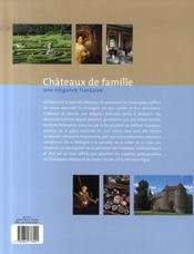 Châteaux de famille ; une élégance française - 4ème de couverture - Format classique
