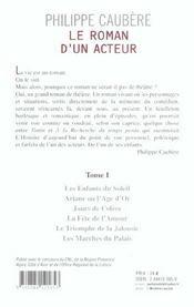 Le Roman D'Un Acteur T1 - 4ème de couverture - Format classique