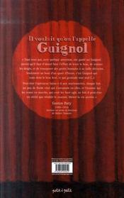 Il voulait qu'on l'appelle Guignol - 4ème de couverture - Format classique