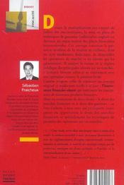 Les suretes sur les marches financiers - 4ème de couverture - Format classique