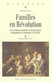 Familles en revolution ( 1775-1825) - Intérieur - Format classique