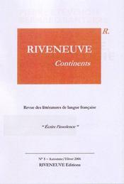 Riveneuve Continents T.5 ; Ecrire L'Insolence - Intérieur - Format classique