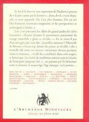 Anthologie ; l'amour des livres et de la lecture t.1 ; le lait de la louve - 4ème de couverture - Format classique