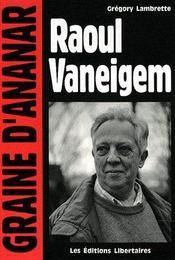 Raoul Vaneigem - Couverture - Format classique