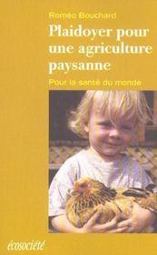 Plaidoyer Pour Une Agriculture Paysanne - Intérieur - Format classique