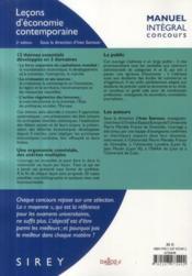 Leçon d'économie contemporaine (2e édition) - 4ème de couverture - Format classique