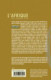 L'Afrique des grands lacs ; annuaire (2007-2008) - 4ème de couverture - Format classique
