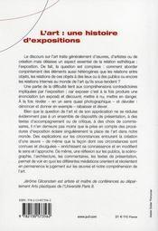 L'art : une histoire d'expositions - 4ème de couverture - Format classique