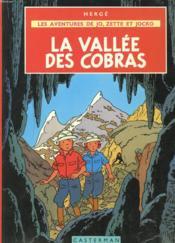 Les aventures de Jo, Zette et Jocko t.5 ; la vallée des cobras - Couverture - Format classique